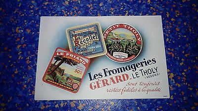 Buvard publicitaire ancien Fromagerie Fromage Vosges