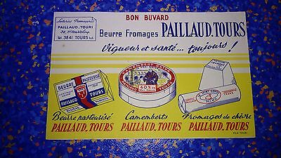 Buvard publicitaire ancien Fromagerie Fromage Paillaud
