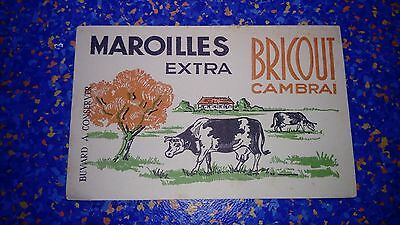 Buvard publicitaire ancien Fromagerie Fromage Maroilles Bricout