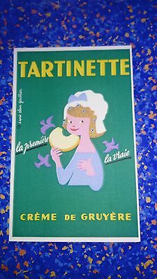 Buvard publicitaire ancien Tartinette Fromage