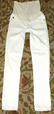 Adriano Goldschmied AG A PEA IN THE POD 26/27x30 Maternity White Skinny Jeans