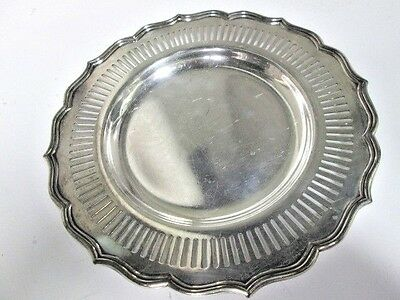 """Vintage E. G. Webster Small Silver Plated Dish or tray, Scallloped 7"""" diameter"""