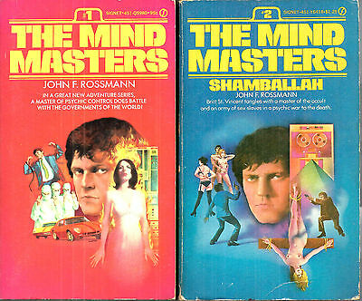 The Mind Masters #1 and #2 by John F. Rossmann, Signet Books 1st edition PBs