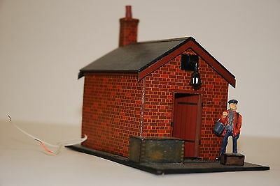 0 Gauge Platelayers Hut With Figure And Lighting