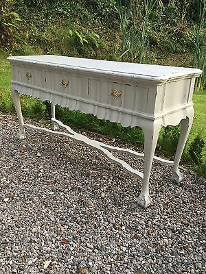 Brights  Of Nettlebed Long & Ornate Painted  Hall / console Table With Drawers