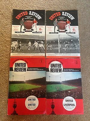 Manchester United 4 United Review Programmes 1965-68