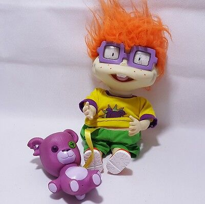 Rugrats Chuckie Finster Doll Vintage Nikelodeon Cheer Up Chucky wawa  teddy
