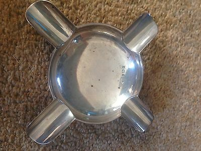 Solid Silver Art and Crafts Ashtray