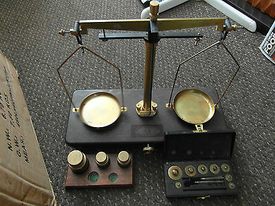 Vintage Griffin and Tatlock Balance Scales plus weights