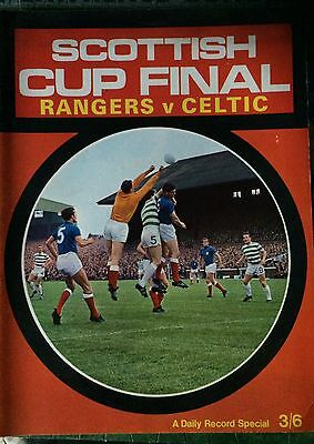Rangers V Celtic 1969 Scottish Cup Final Daily Record Review Brochure