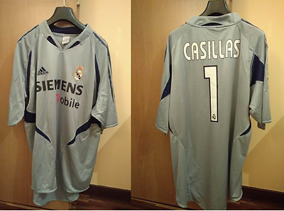 Match worn REAL MADRID 2004/05 CASILLAS #1 Maglia Camiseta Shirt Jersey Liga