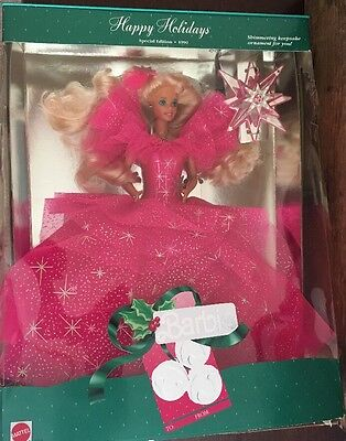 Mattel Barbie Doll Happy Holidays Special Edition 1990 with Original Box Lot 78