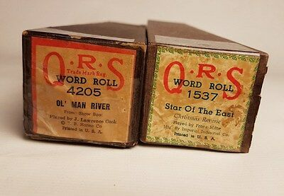 2 x 88er QRS Notenrolle Song Roll: Ol Man River + Star of the East / Weihnacht
