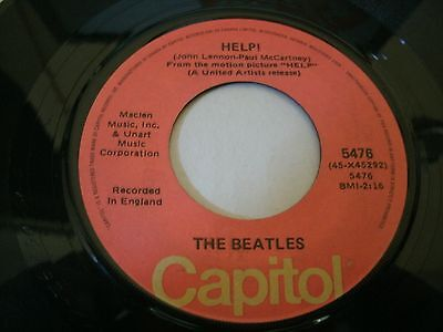 The Beatles  45 Record   Help - I'm Down    Capitol   Canada