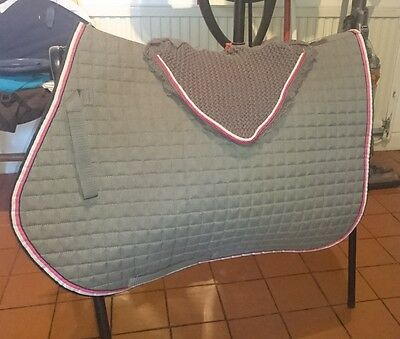 Eskadron Next Generation Gp Jump Pad and Ears Fly Veil Grey and Pink Matchy