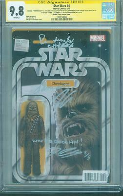 Star Wars 4 CGC SS 4X 9.8 Action Figure Top 1 Variant Peter Mayhew Remarked