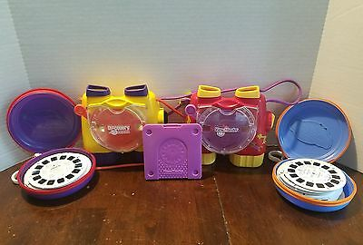View Master & Discovery channel Lot 76 Reels, Cases, Disney, Imax, Nickelodeon
