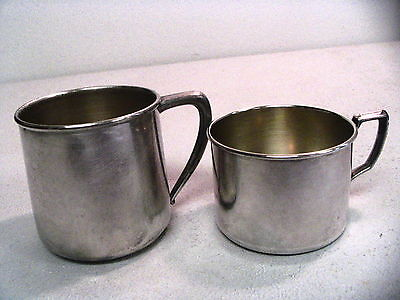 2 Different Size Silverplate Baby Cups