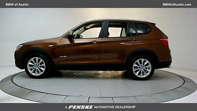 2017 BMW X3 sDrive28i Sports Activity Vehicle sDrive28i Sports Activity Vehicle 4 dr Automatic Gasoline 2.0L 4 Cyl Chestnut Br