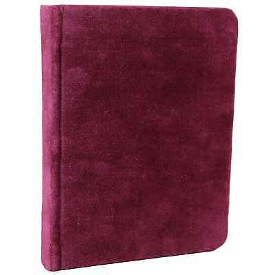 Burgundy Velvet Bound Journal Handmade Unlined Blank Book Notebook Sketchbook