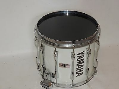 """Yamaha 14"""" Marching Band Snare Drum White with New Heads"""