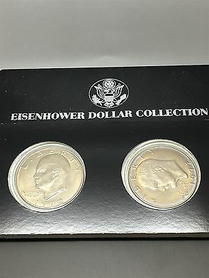1972 P and D Ike Dollars - Uncirculated Set