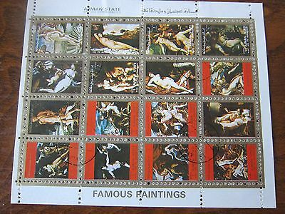 Ajman stamps sheet - Lot of 5 sheets