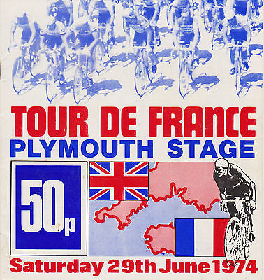 1974 Tour De France in Plymouth, Vintage Cycling Programmes on dvd