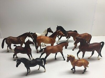 Vintage BREYER Lot of 10 Horses - Breyer Reeves, Chess U.S.A. Breyer Molding Co.