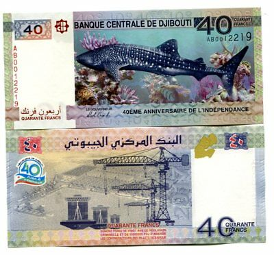 Djibouti 40 Francs 2017 P-New Unc Commemorative