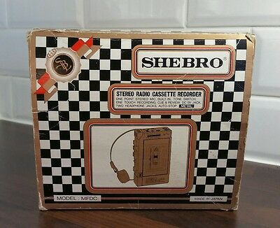 Vintage SHEBRO radio cassette recorder Working & Tested ! Rare boxed Model MFDC