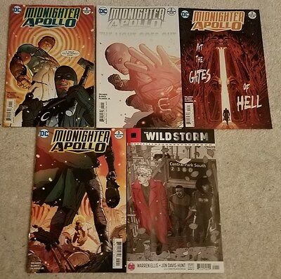 Midnighter and Apollo #1, 2, 3, 5 and The Wildstorm #1 NM DC Comics Lot