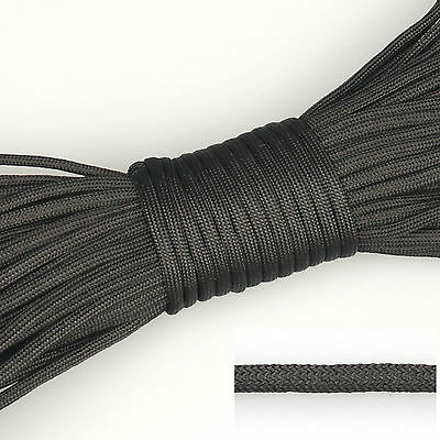 550 Paracord Parachute Cord Lanyard Mil Spec Type III 7 Strand Core 100ft Black