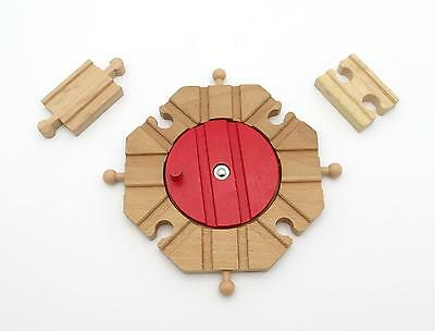 TURNTABLE SWITCH TRACK W ADAPTERS Thomas Brio Compatible Wooden Train Set