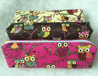 KNITTING TOOLS  KIT - OWL - with zippered bag - colour coptions - BUDGET 42 pcs