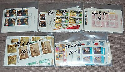 Canada discount postage lot of 5c-8c values face $68 MNH @ 60%