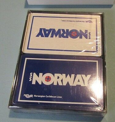 Vintage SS Norway Norwegian Cruise Lines SEALED Playing Cards Double Deck Set