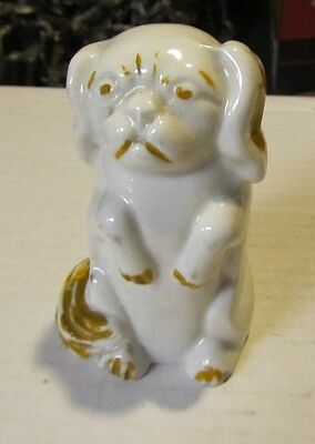 Vintage Ceramic Porcelain Pekingese Dog Alec-Tri-Pup Lighting Lamp 3 Plug Outlet