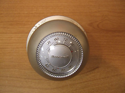 Honeywell T87F 1859 Round Gold Thermostat Vintage Dial Mercury Cooling Cool Base