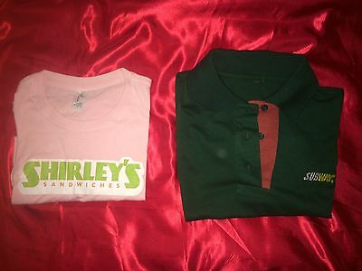 Community - Screen-Used Prop Subway Shirt & Shirley's Sandwiches Shirt! Harmon!