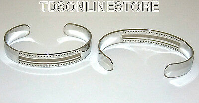 Centerline Rhodium Plated Adjustable Bracelet Cuffs Package Of 2