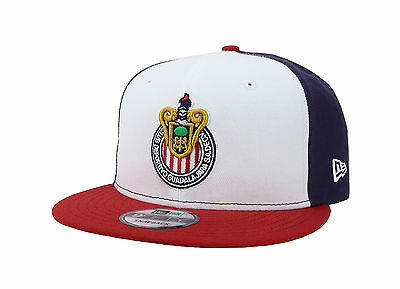 New Era Hat Chivas de Guadalajara Liga Mexicana Snapback Navy Blue White Red Cap