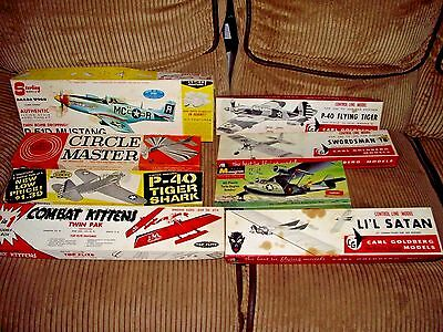 Lot of Vintage EMPTY Incomplete Model Airplane Boxes Directions Box 1930's 1940s