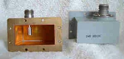 """Pair of Western Electric 4 Ghz WR229 Waveguide to """"N"""" Coax Adapters"""
