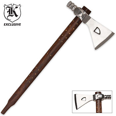 "Native American Replica Tomahawk PEACE PIPE Axe - 17 1/2"" - Fast Dispatch"
