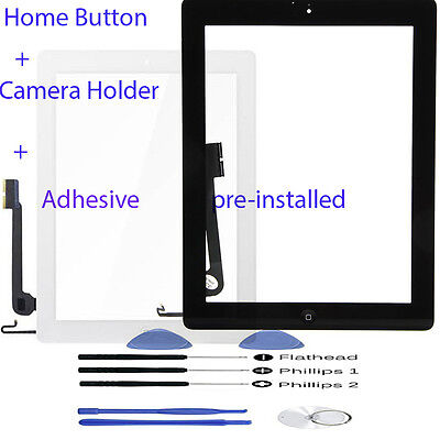 Front Glass Lens Touch Screen Panel Digitizer For iPad 4 4th A1458 A1459 A1460