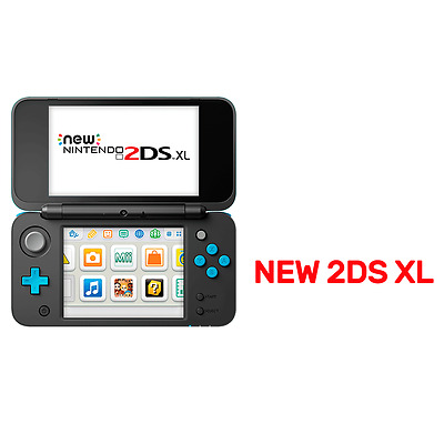 Nintendo New 2DS XL Console Black & Blue - Nintendo 3DS - BRAND NEW