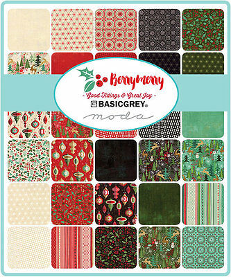 Patchwork/quilting Fabric Moda Berry Merry Charm Pack - Christmas