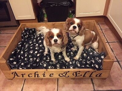personalised Wooden Dog/Cat Puppy/Kitten Whelping Box/ Bed with wooden flooring