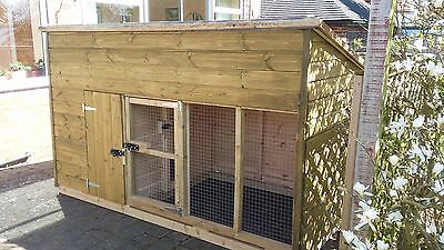 dog kennel and run 10 x 4 x 5'6'' H